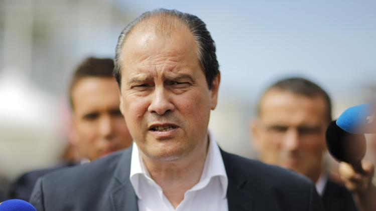 """French Socialist Party head Jean-Christophe Cambadelis arrives at the Socialist Party's """"Universite d'ete"""" summer meeting in La Rochelle"""