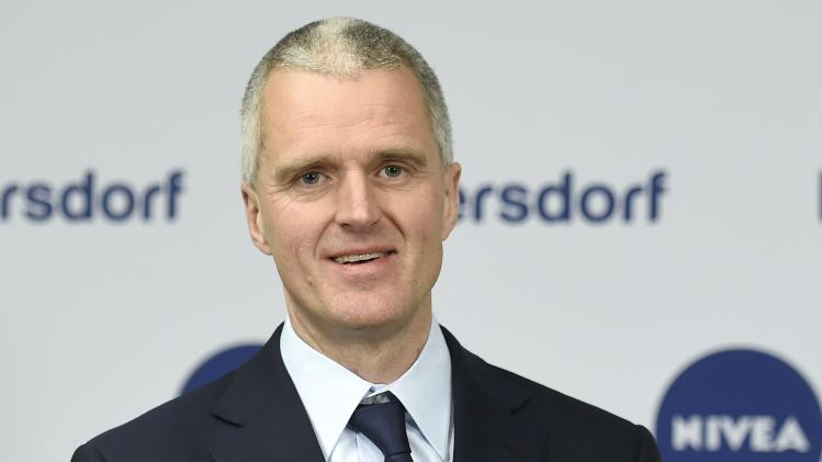 Heidenreich, CEO of German care cosmetic company Beiersdorf, is pictured before the shareholder meeting in Hamburg