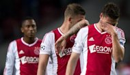 Ajax Amsterdam's Derk Boerrigter (R) reacts after losing their UEFA Champions League Group D match against Real Madrid, on October 3. Real won 4-1