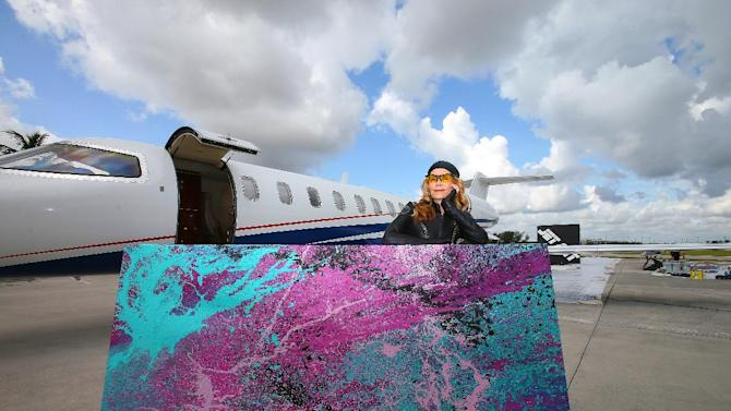 IMAGE DISTRIBUTED FOR FLEXJET - Flexjet will donate one of artist Princess Tarinan von Anhalt's creations to Auction Napa Valley to raise money for non-profit organizations, which support health care, youth services and affordable housing. For more information, visit flexjet.com. (Tom DiPace/AP Images for Flexjet)