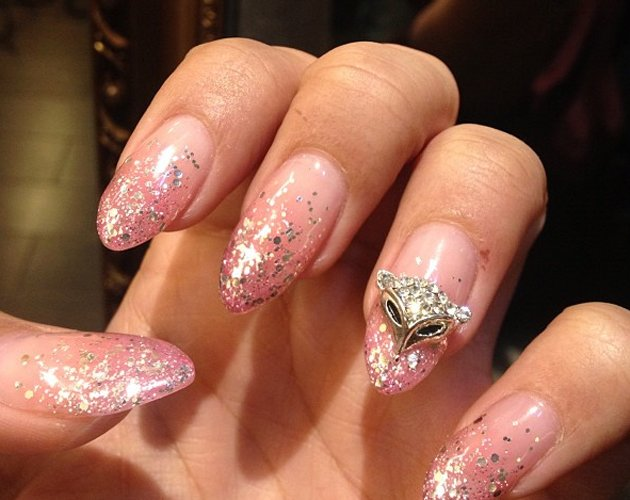 Leona Lewis can't get enough of the beauty trend for glittering talons