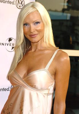 Caprice Bourret at the Hollywood premiere of Universal Pictures' The 40-Year-Old Virgin