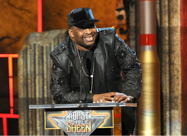 Comedian Patrice O'Neal speaks onstage at Comedy Central's Roast of Charlie Sheen.