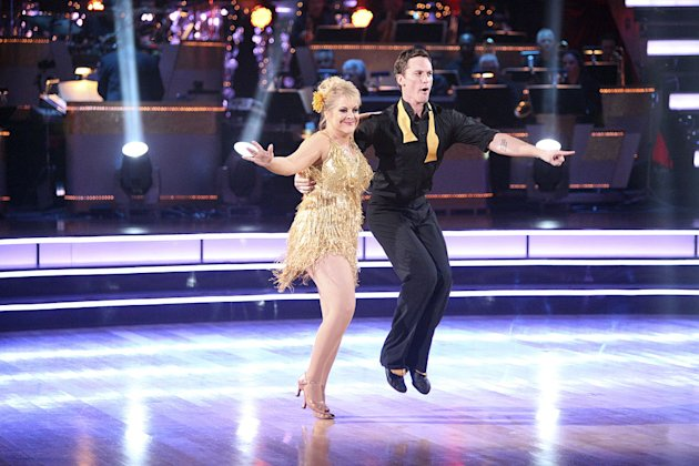 "Tristan Macmanus and Nancy Grace perform on ""Dancing With the Stars."""