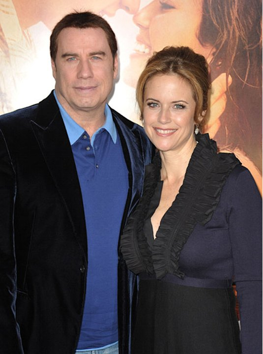 The Last Song LA Premiere 2010 John Travolta Kelly Preston