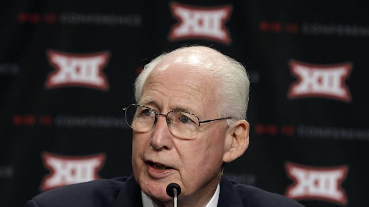 Kansas State head coach Bill Snyder speaks to reporters at the Big 12 Conference NCAA college football media days in Dallas, Tuesday, July 22, 2014. (AP Photo)
