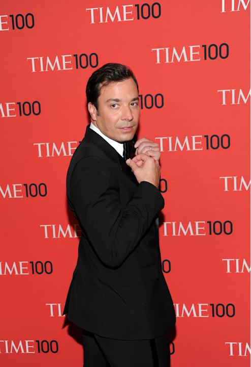 "Talk show host Jimmy Fallon attends the TIME 100 Gala celebrating the ""100 Most Influential People in the World"" at Jazz at Lincoln Center on Tuesday April 23, 2013 in New York. (Photo by Evan Agostin"
