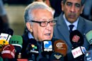 "In this photo released by the Syrian official news agency SANA, UN Arab League deputy to Syria, Lakhdar Brahimi, speaks during a press conference in Damascus, Syria, Thursday, Dec. 27, 2012. The international envoy charged with pushing to end Syria's civil war has called for the formation of a transitional government to run the country until new elections can be held. Brahimi told reporters in Damascus Thursday that political changes in Syria must not be ""cosmetic"" but lead to genuine change while preserving state institutions. (AP Photo/SANA)"
