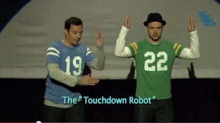 "Fallon and Timberlake - ""Evolution of End Zone Dancing"""