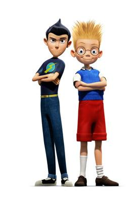 Wilbur Robinson and Lewis Robinson in Walt Disney Pictures' Meet the Robinsons