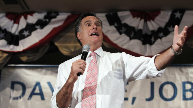 Republican presidential candidate former Massachusetts Gov. Mitt Romney holds a town hall meeting Wednesday, Sept. 14, 2011, in Sun Lakes, Ariz. (AP Photo/Ross D. Franklin)