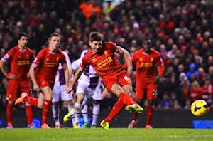 Liverpool 2-2 Aston Villa: Sturridge and Gerrard spare Reds' blushes