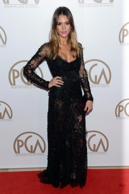 Jessica Alba arrives at the 24th Annual Producers Guild Awards held at The Beverly Hilton Hotel on January 26, 2013 in Beverly Hills, Calif  -- Getty Images