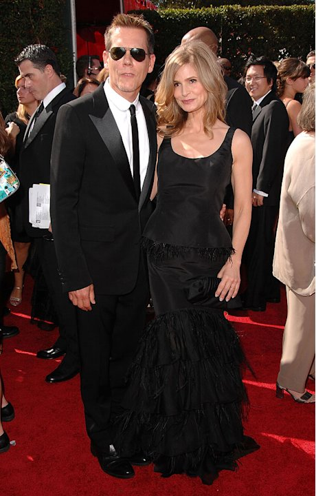 Kevin Bacon and Kyra Sedgwick arrive at the 59th Annual Primetime Emmy Awards at the Shrine Auditorium on September 16, 2007 in Los Angeles, California.