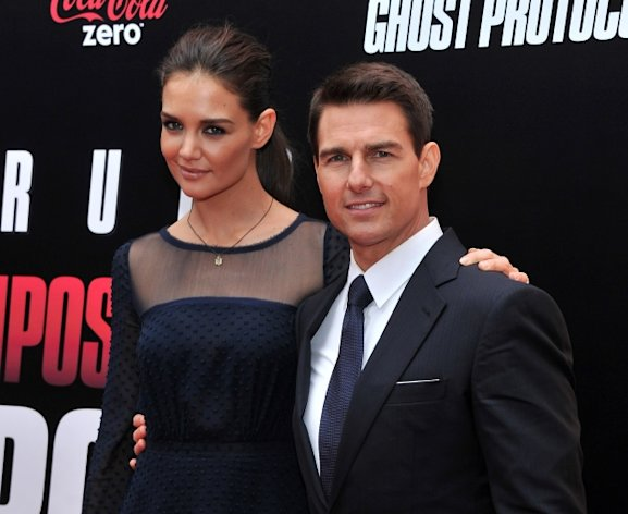 Katie Holmes and Tom Cruise step out at the &#39;Mission: Impossible - Ghost Protocol&#39; U.S. premiere at the Ziegfeld Theatre in New York City on December 19, 2011  -- Getty Images