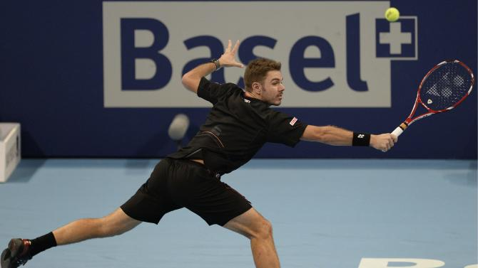 Wawrinka loses in 1st round of Swiss Indoors