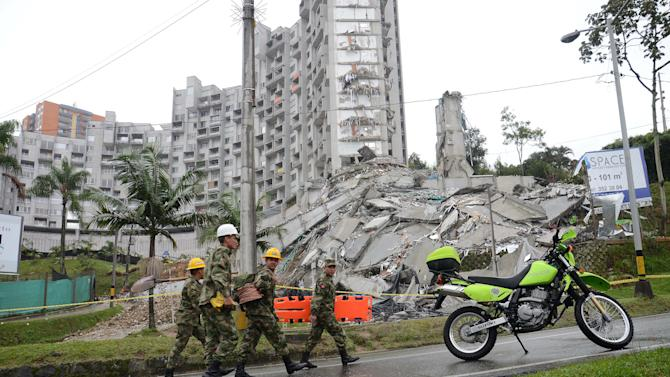 Colombia recovers body from ruins of apartment