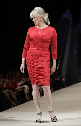 Dynasty star Linda Evans made her runway debut at the Heart Truth Red Dress show