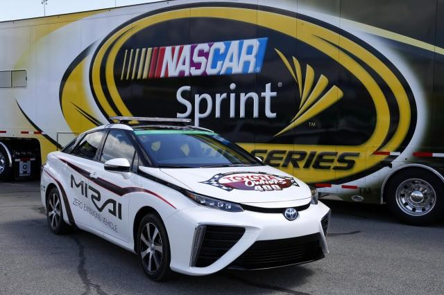 Toyota Mirai Becomes World's First Fuel Cell Pace Car