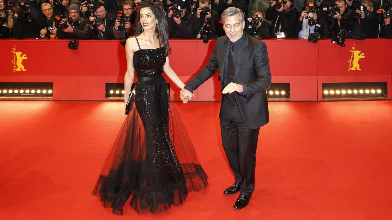 Amal Clooney Accompanied Trophy Husband to Movie Premiere in Vintage YSL