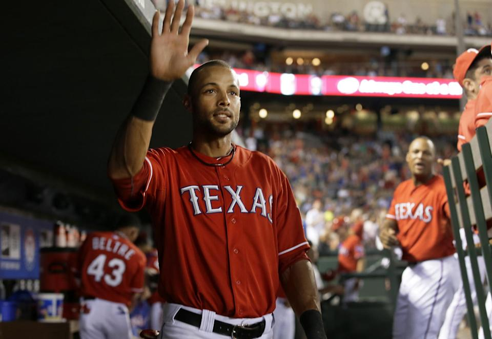 Rios hits for cycle as Rangers rout Astros 12-0