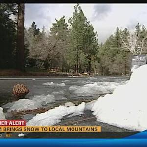 Storm brings snow to local mountains