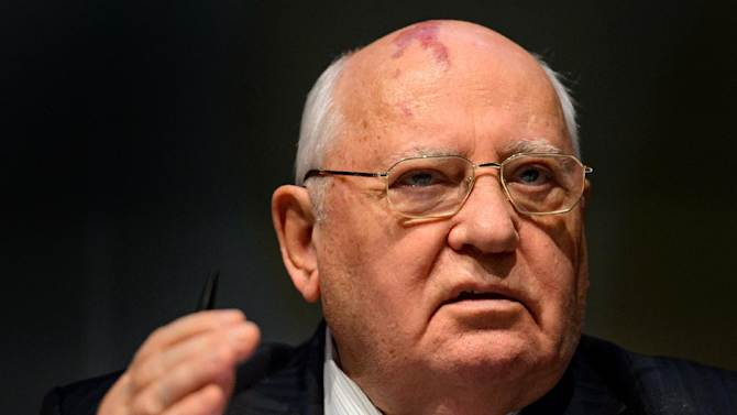 Former Soviet leader Mikhail Gorbachev has been hospitalised but is determined to fight for his life, Russian press agencies reported Thursday