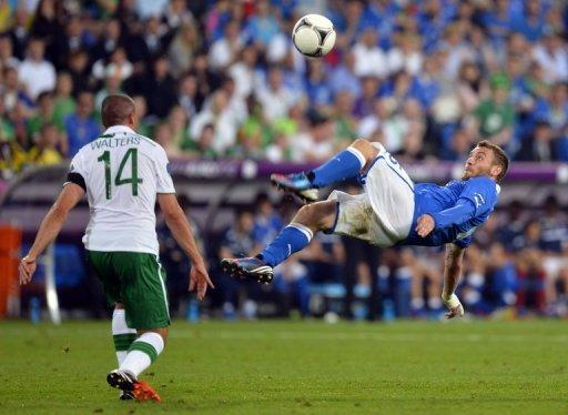 Italy met Spain in the final of Euro 2012, the Spaniards winning 4-0