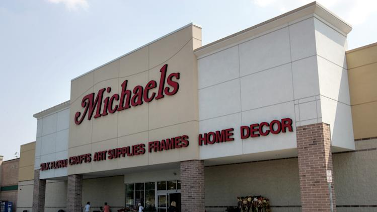 FILE - This Aug. 23, 2006 file photo shows A Michaels store in Philadelphia. The arts and crafts chain's initial public offering on Friday, June 27, 2014, is expected to test investor enthusiasm for the crafts business in light of competition from the Web and big discounters. (AP Photo/Matt Rourke, File)