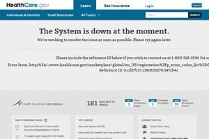 'The System is down' message on HealthCare.gov