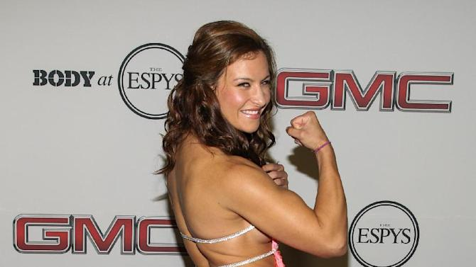 UFC fighter Miesha Tate at the Body at ESPYS Party sponsored by Hennessy V.S on July 16, 2013 at Lure in Los Angeles, CA. (Photo by Paul A. Hebert/Invision for Hennessy/AP Images)
