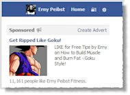 How to Increase Your Facebook Likes With a Small Budget: Case Study image Goku Facebook Ad