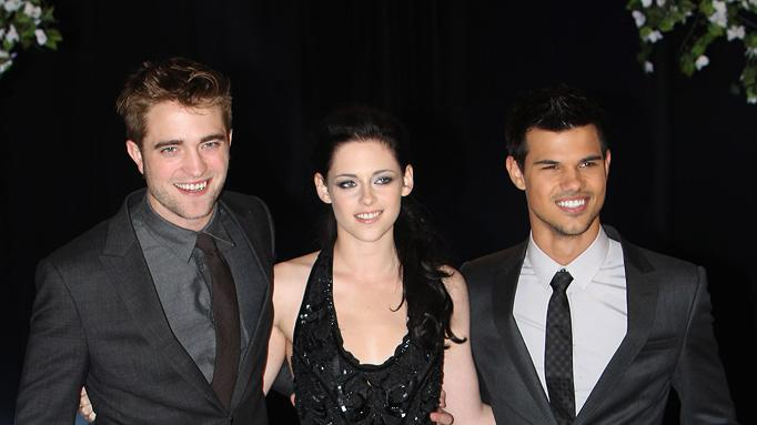 The Twilight Saga Breaking Dawn Part 1 2011 UK Premiere Robert Pattinson Kristen Stewart Taylor Lautner
