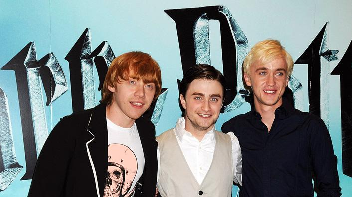 Harry Potter and the Half Blood Prince UK Photocall 2009 Rupert Grint Daniel Radcliffe Tom Felton