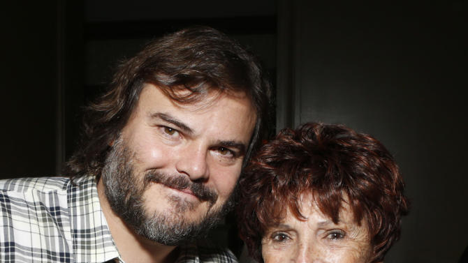 "Jack Black and HFPA President Dr. Aida Takla O'Reilly attends a celebration for ""Bernie"" by Millennium Entertainment on Tuesday Oct. 30, 2012, in Los Angeles.  (Photo by Todd Williamson/Invision for Millennium Entertainment/AP Images)"