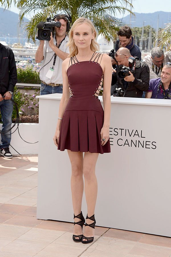 Diane Kruger Kicks Off Cannes Film Festival In A Sexy Lace-Up Mini