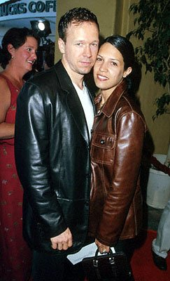 Premiere: Donnie Wahlberg and his wife at the Mann's Village Theater premiere of Warner Brothers' The Perfect Storm - 6/26/2000