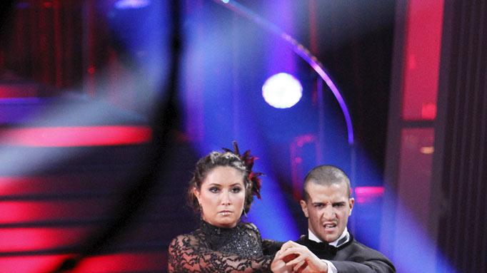"Bristol Palin and Mark Ballas perform on ""Dancing with the Stars."""