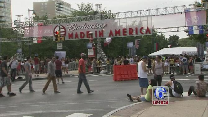 Made in America attendees evacuated due to weather