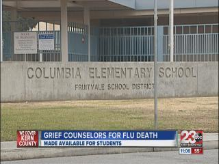 Grief Counselors available at Elementary School after flu death