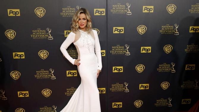 Actress Donna Mills arrives at the 42nd Annual Daytime Emmy Awards in Burbank