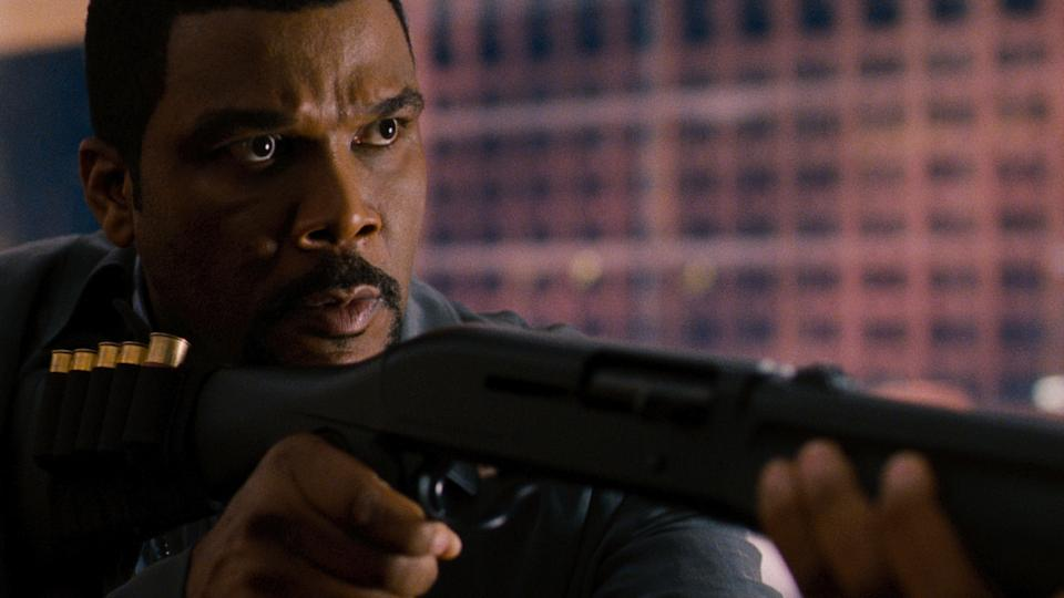 "This film image released by Summit Entertainment shows Tyler Perry in the title role during a scene from ""Alex Cross.""  (AP Photo/Summit Entertainment)"
