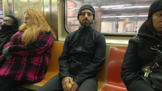 Was That Sergey Brin Wearing Google Glasses in the New York Subway?