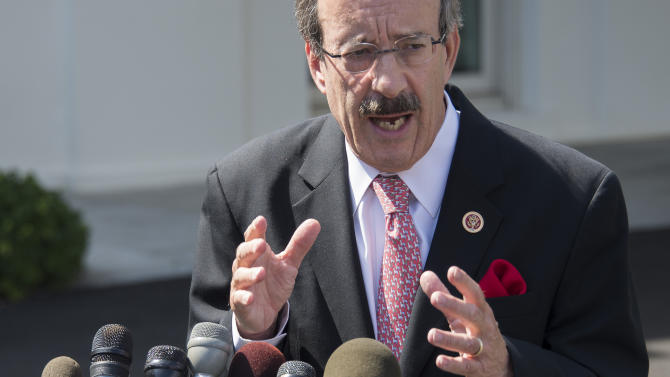 Democrat Eliot Engel delivers remarks in Washington, DC on September 3, 2013