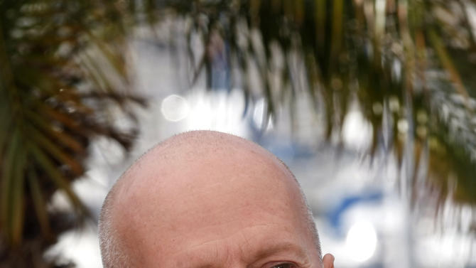 Actress Bruce Willis poses during a photo call for Moonrise Kingdom at the 65th international film festival, in Cannes, southern France, Wednesday, May 16, 2012. (AP Photo/Lionel Cironneau)