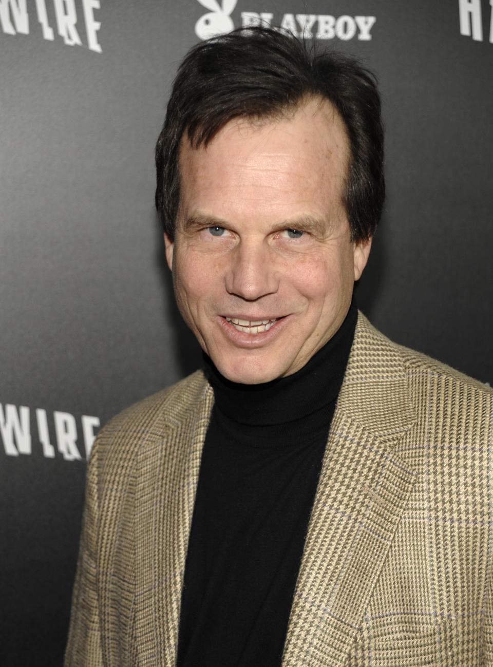 "In this Jan. 5, 2012 file photo, actor Bill Paxton arrives at the premiere of the feature film ""Haywire"" in Los Angeles. Paxton, a 2012 Emmy nominee, says that a part on ""Boardwalk Empire"" would be a dream role for him. (AP Photo/Dan Steinberg, File)"