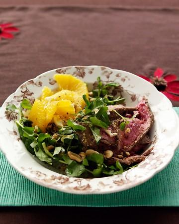 Steak, Watercress, and Orange Salad