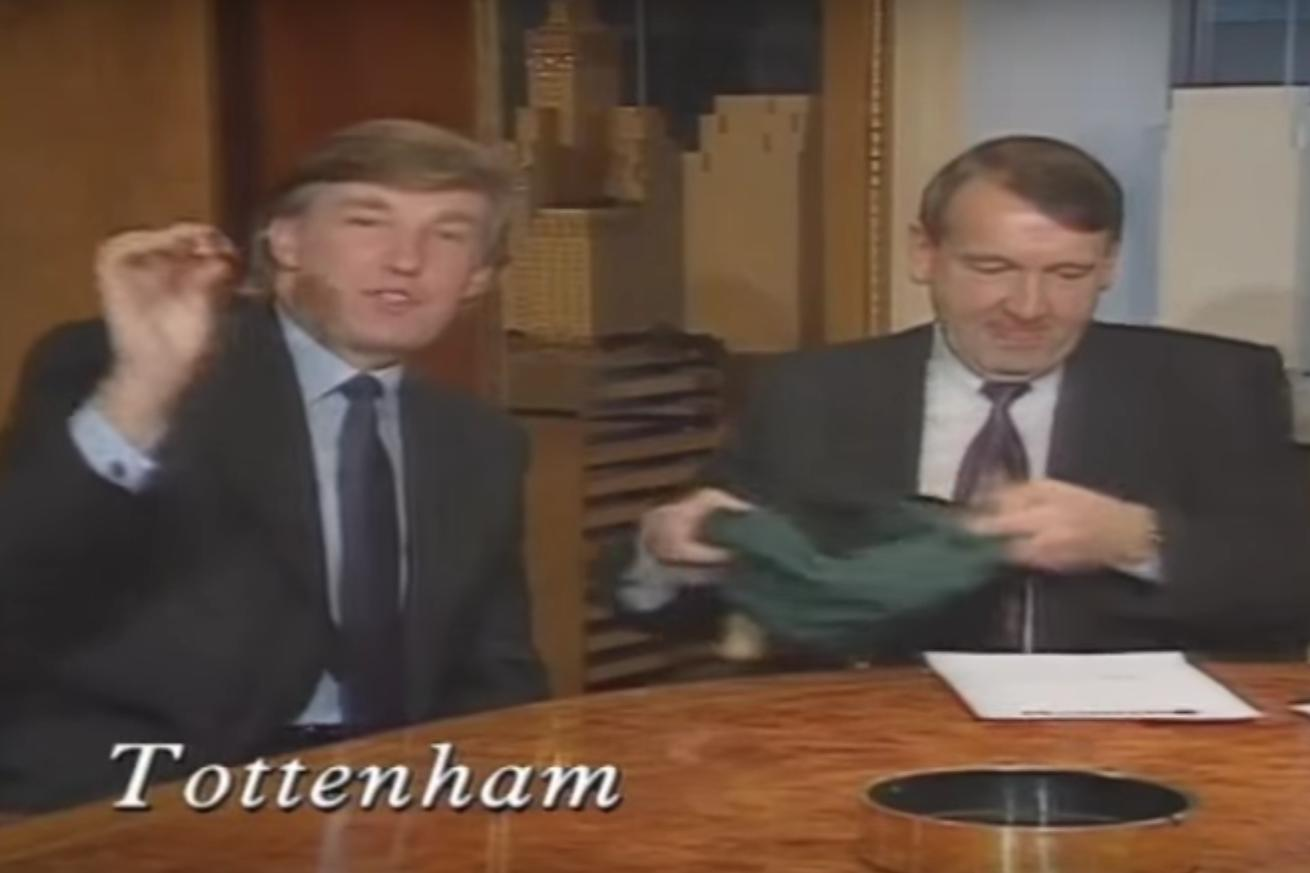 Remember the time Donald Trump picked teams for a major English soccer tournament?