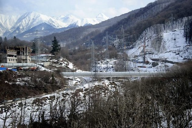 A Pipeline Near The Russian Ski Resort Of Krasnaya Polyana , Some 50 Kms AFP/Getty Images