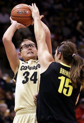 No. 21 Colorado women rout Oregon 84-59